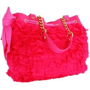Juicy Couture Pink Chiffon Ruffle Daydreamer Bag